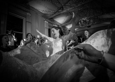 Bride dancing at Morden Hall wedding venue