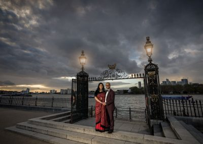Sunset at an Old Royal Naval College wedding