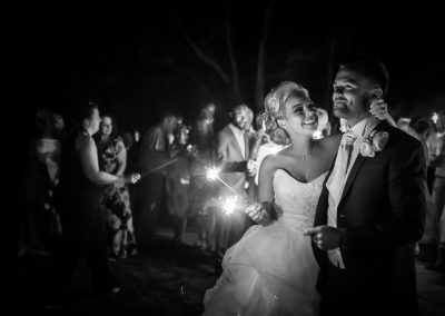After dark wedding photography