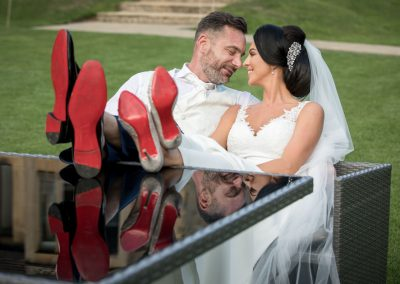 Louboutin wedding photo