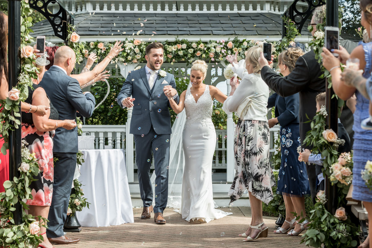 Outdoor ceremony at The Old Kent Barn