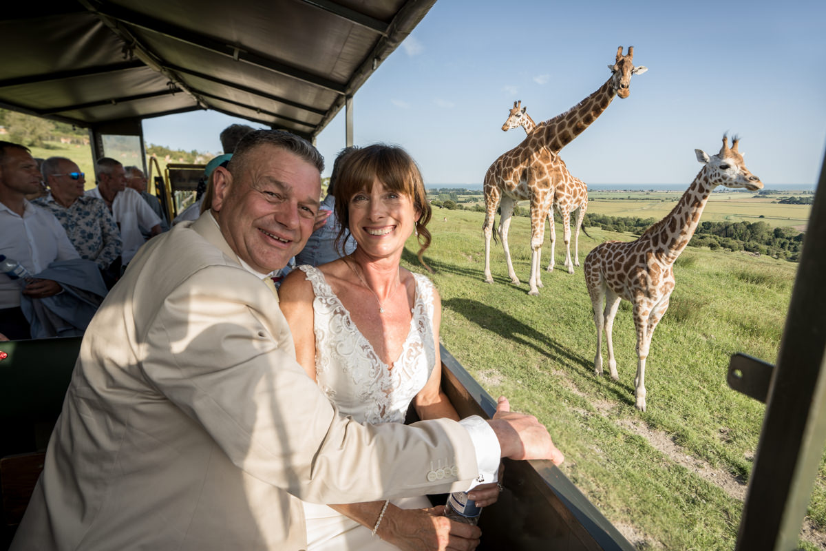 Wedding day safari at Port Lympne Hotel and Reserve