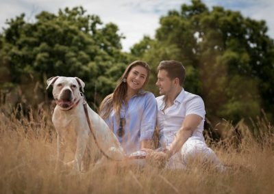 Engagement photography with your dog