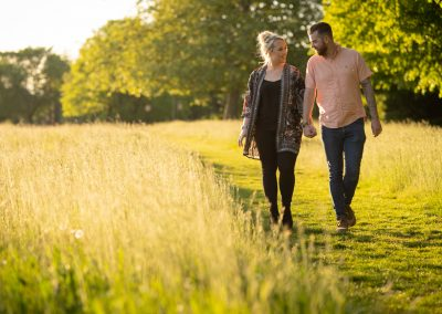 Golden hour engagement photoshoot in London