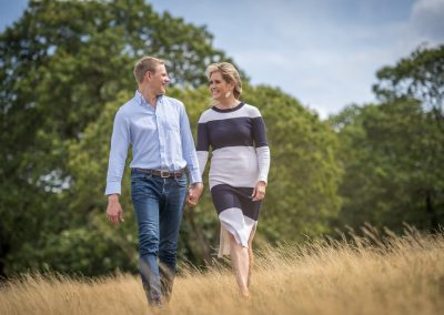 Natural pre-wedding photoshoot in London