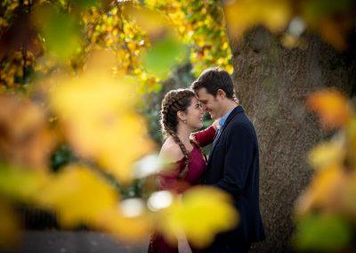 Autumn pre-wedding photoshoot